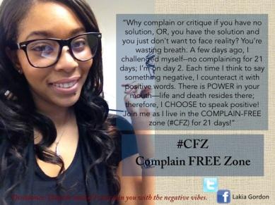 Lakia Gordon Complain Free Zone
